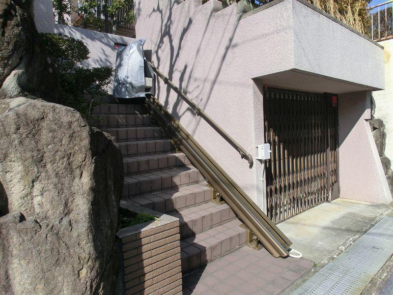 施工後 いす式階段昇降機