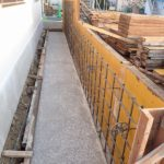塀のベースコンクリートと壁配筋です。
