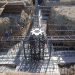 基礎地中梁の鉄筋組み