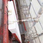 足場倒壊防止用のつなぎをALC用に切替えました。