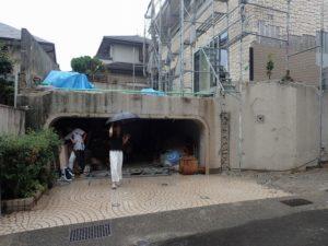 既存地下車庫:昭和40年代に作ったと思われる老朽化した車庫