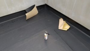 車庫上 アスファルト防水常温工法