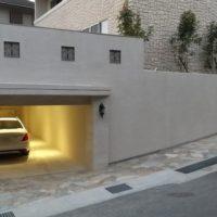 車庫(オーバードアオープン)~正面玄関