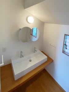 2階洗面所 サンワカンパニー エレガンスダブル+ミラーSUSメタルナ