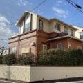 オレンジの外壁色・屋根は遮熱塗料使用の塗装工事☆彡